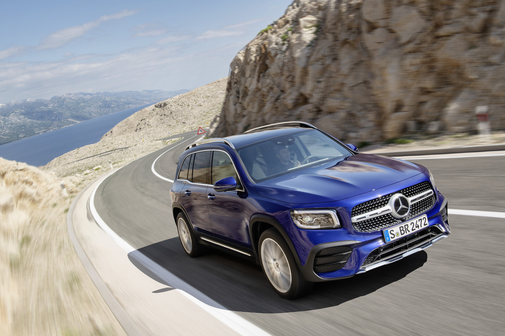 Blue Mercedes-Benz GLB