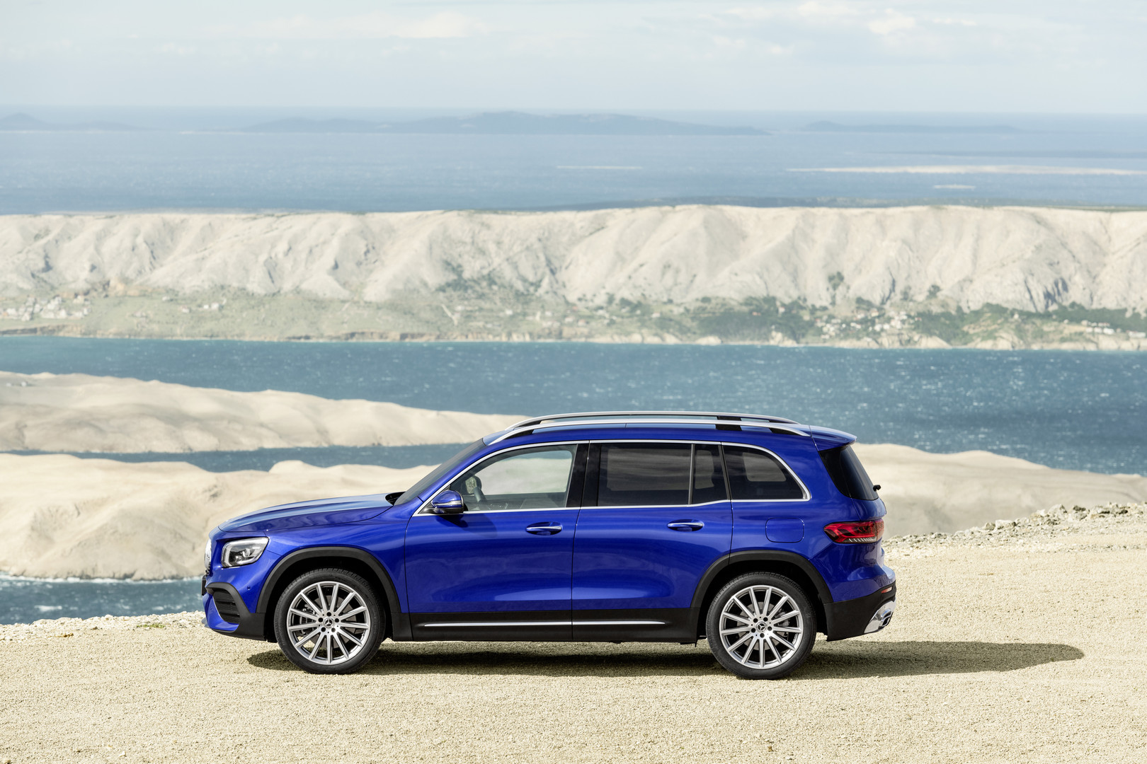 Blue Mercedes-Benz GLB Side View