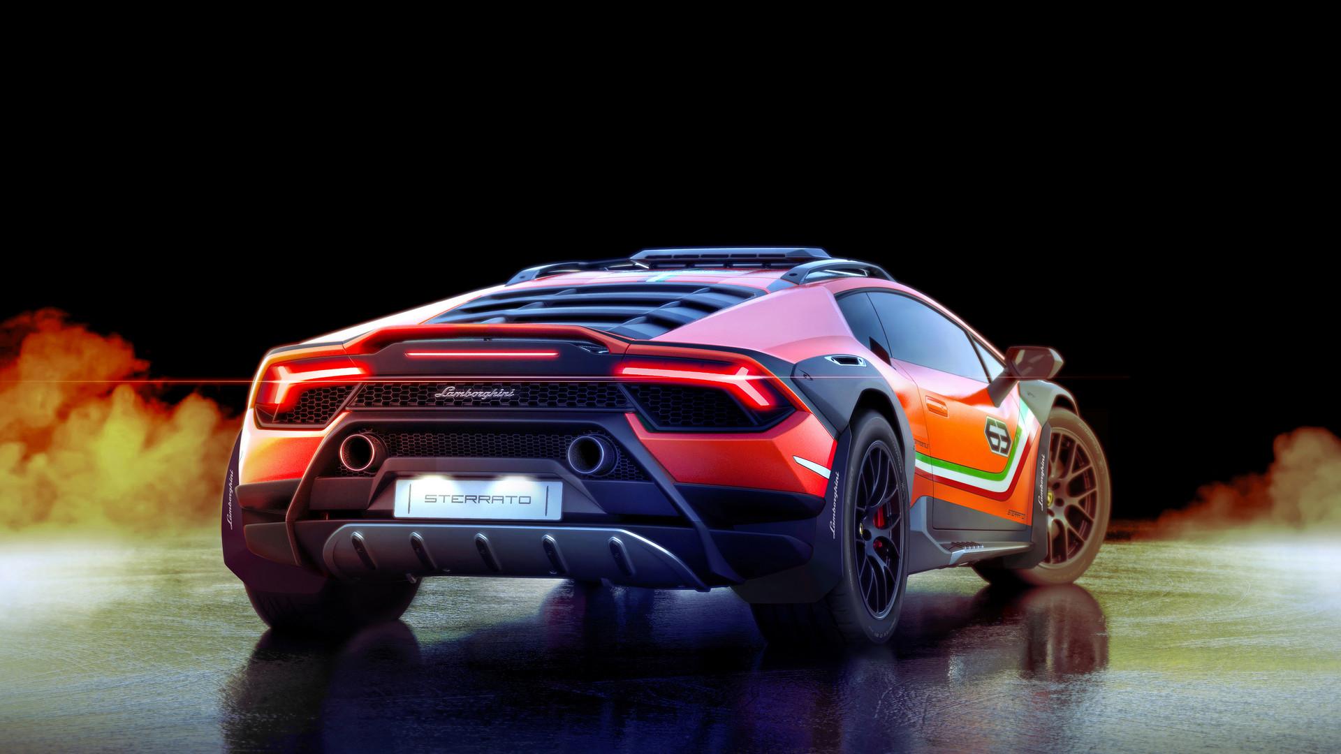 Lamborghini Huracan Sterrato Rear View