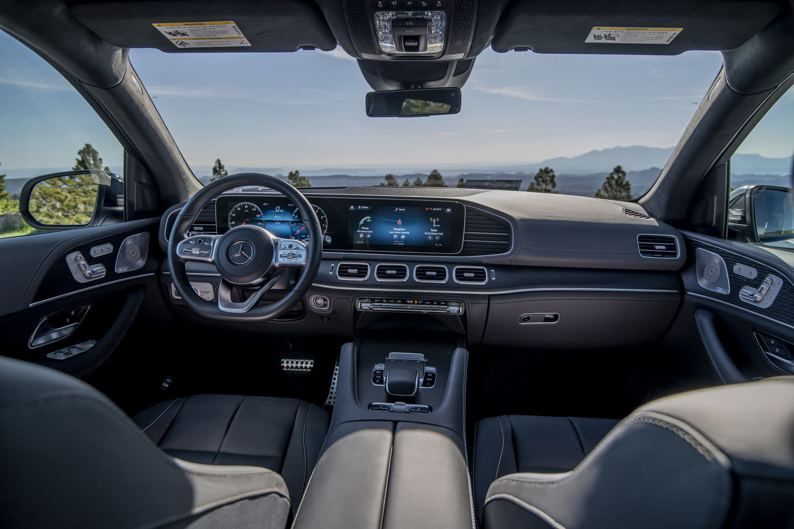 2020 Red Mercedes-Benz GLS 580 Interior