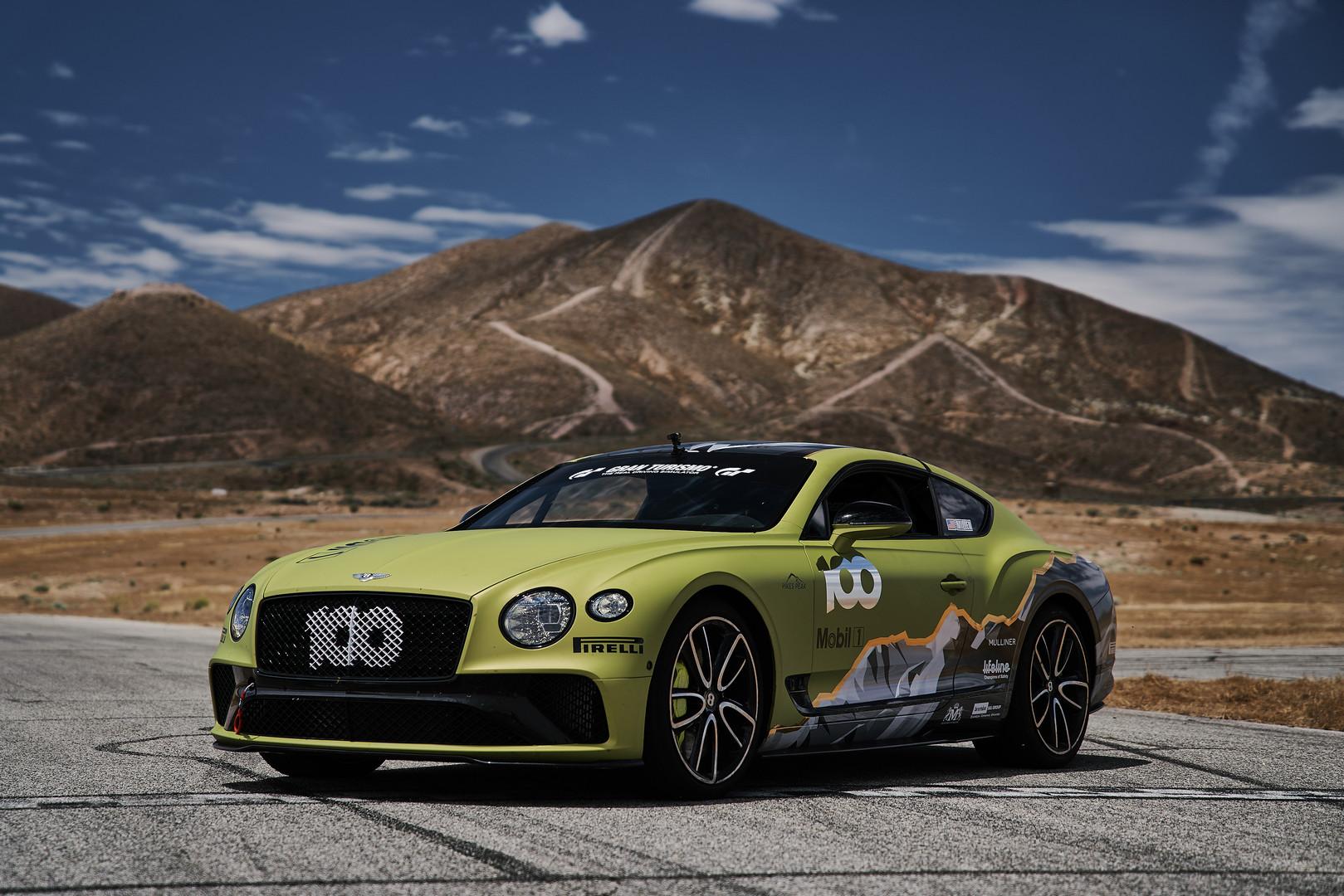 Green Bentley Continental GT