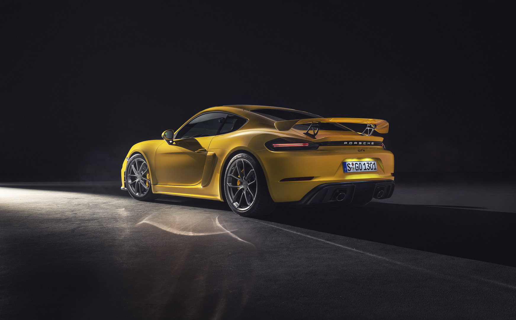 Porsche 718 Cayman GT4 Rear View