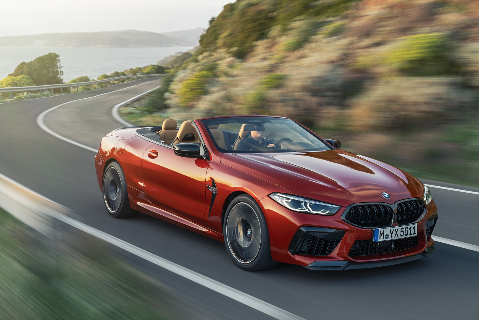 BMW M8 Competition Convertible Top Down