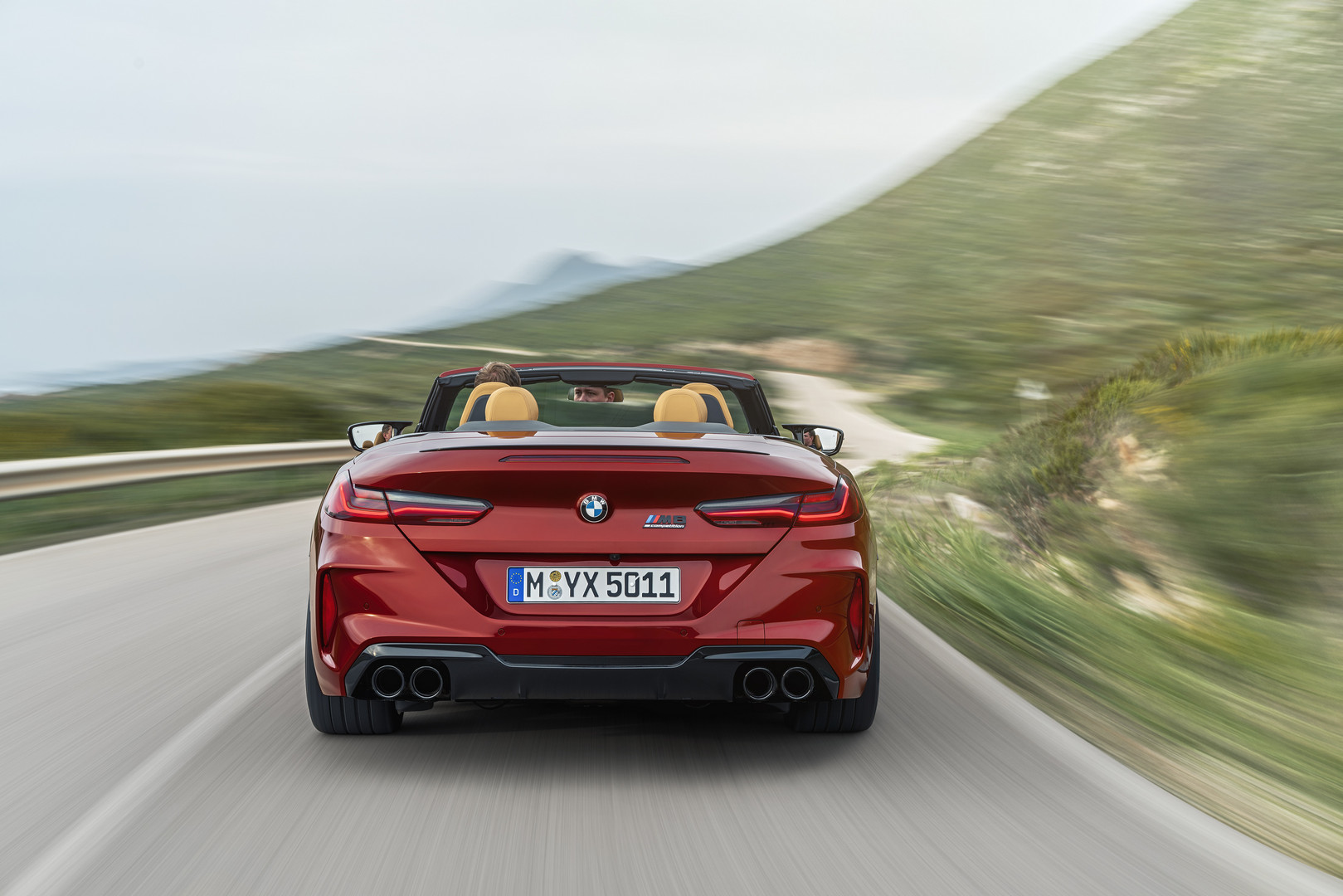 BMW M8 Competition Convertible Rear View
