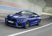 Frozen Blue BMW M8 Competition