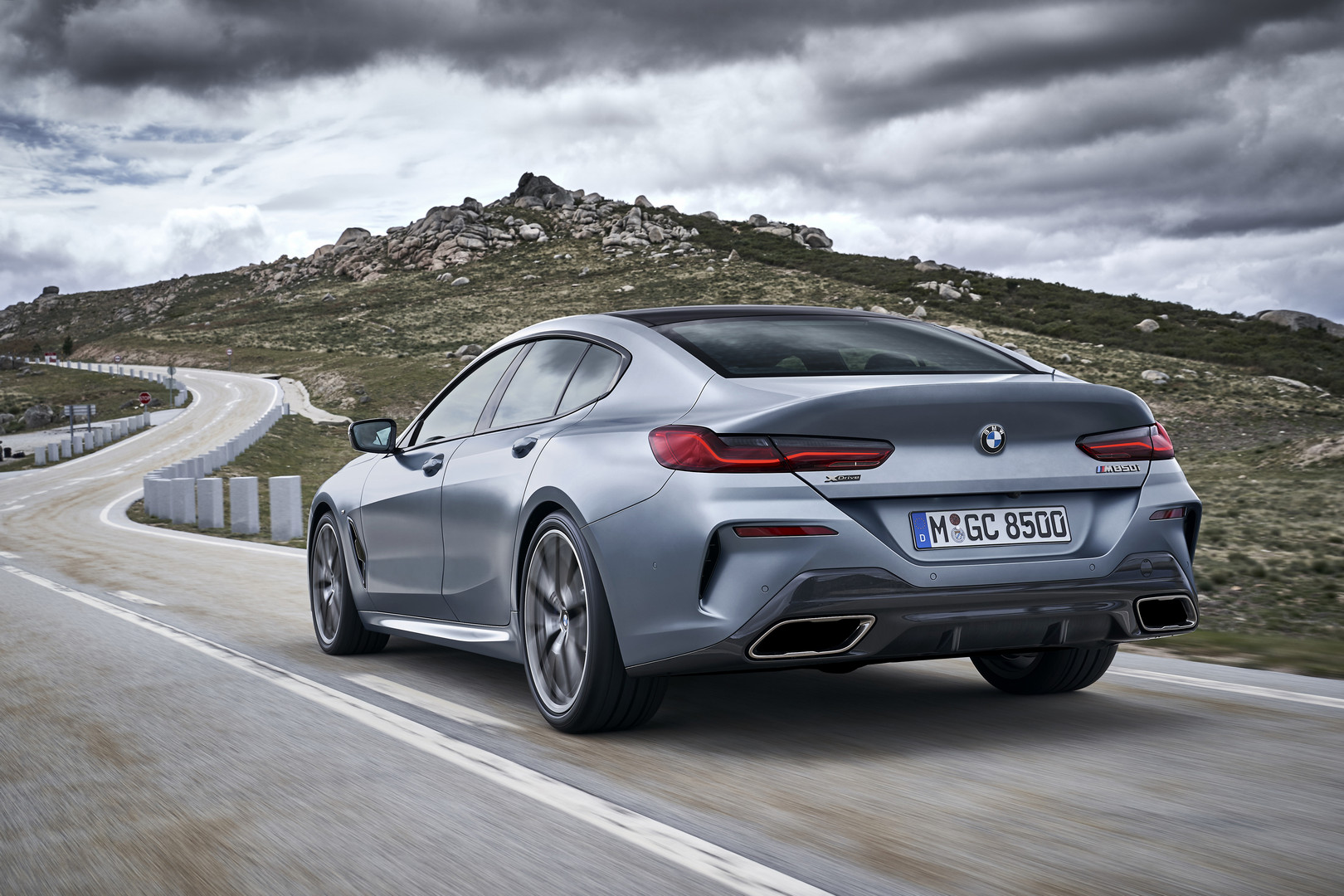 BMW 8 Series Gran Coupe Rear View