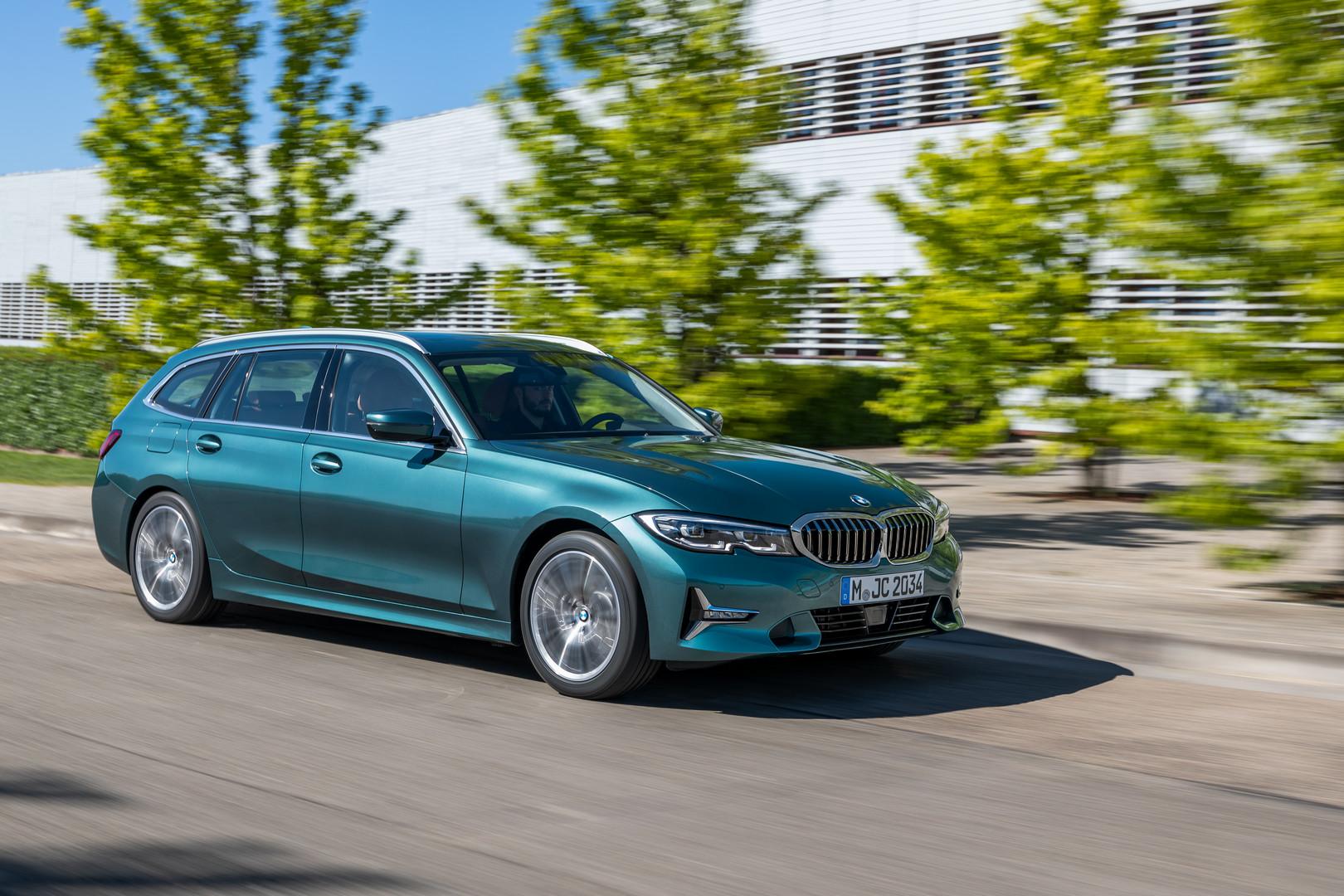 Blue BMW 3-Series Touring