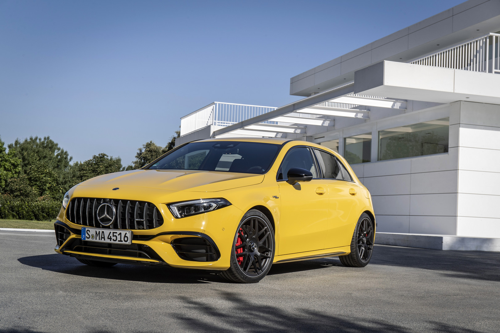 Sun Yellow Mercedes-AMG A45 S
