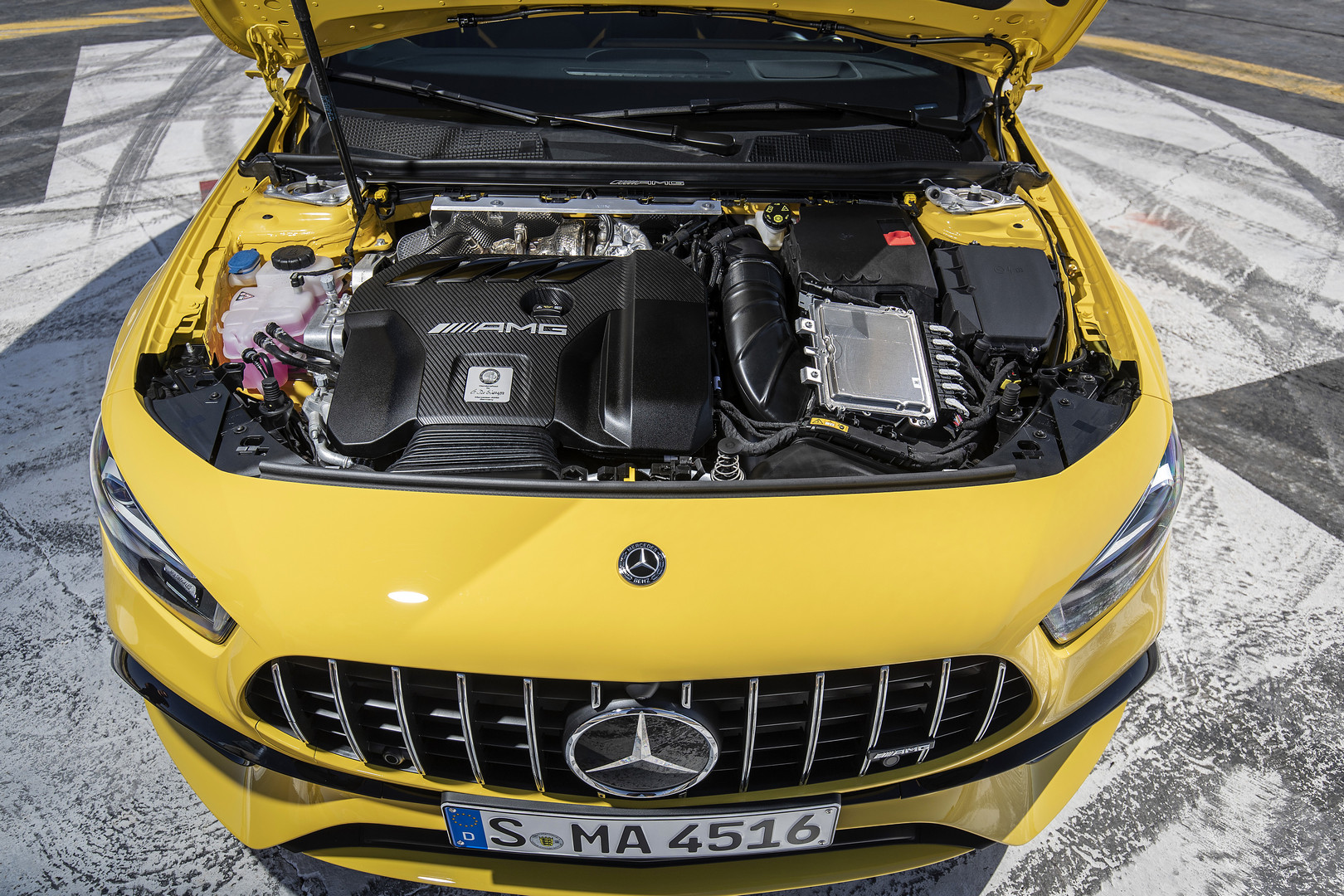 2020 A45 S AMG Engine Bay