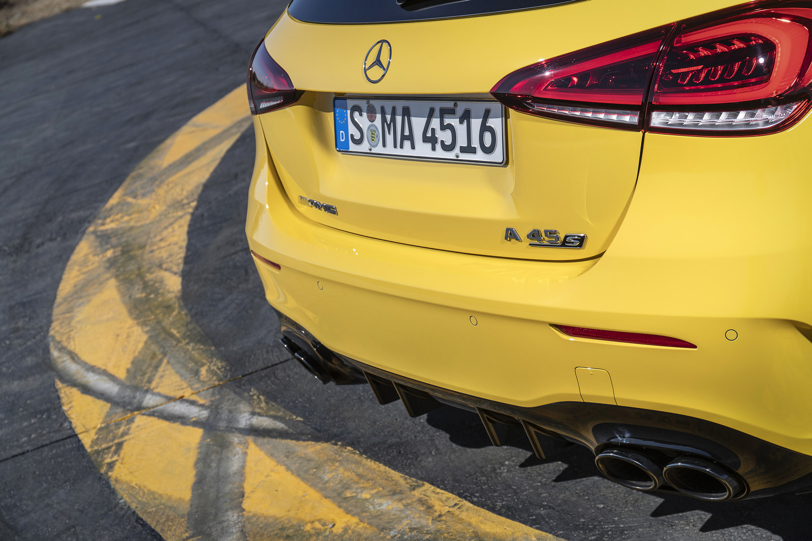 2020 A45 S AMG Exhaust Pipes