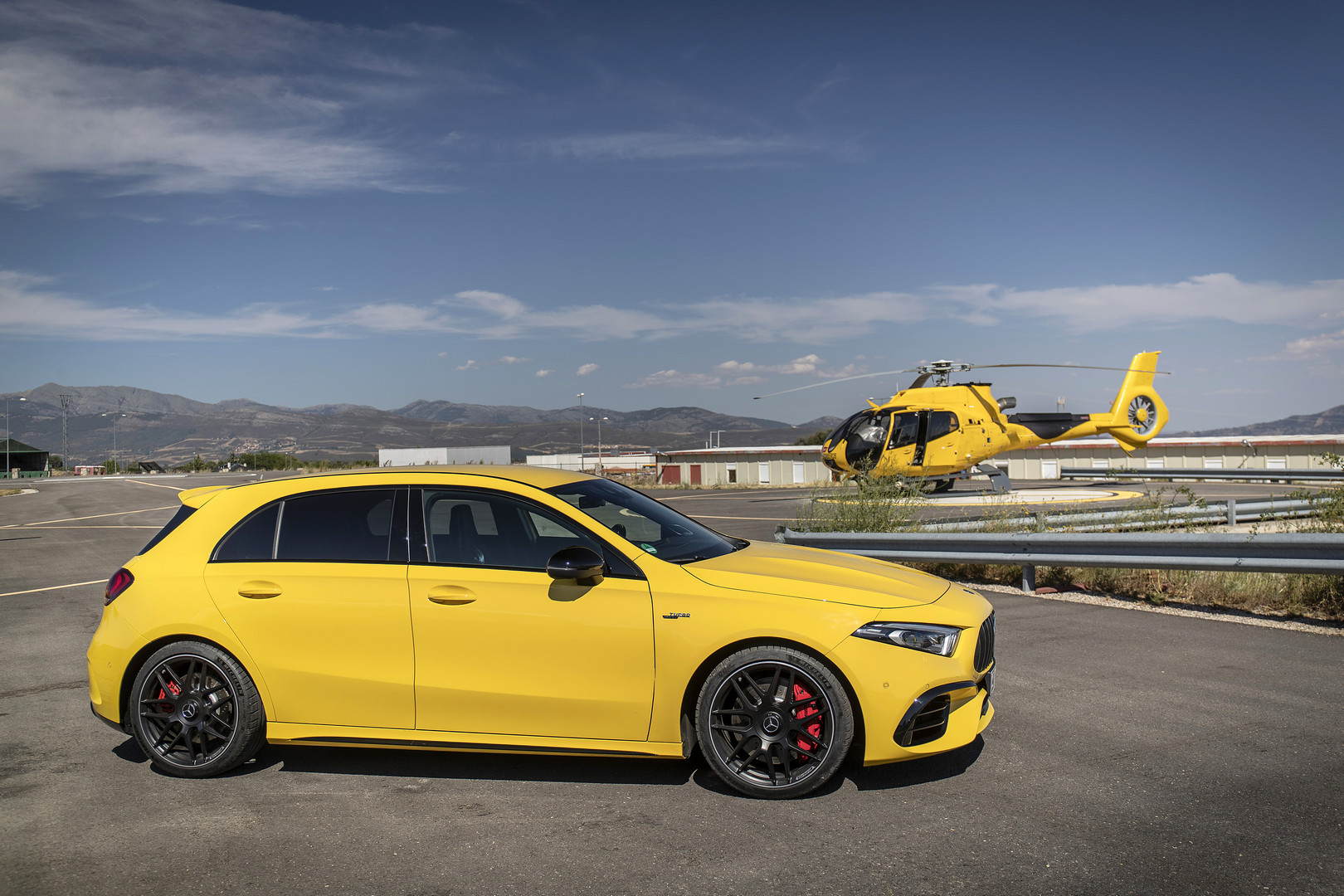 2020 A45 S AMG Side View