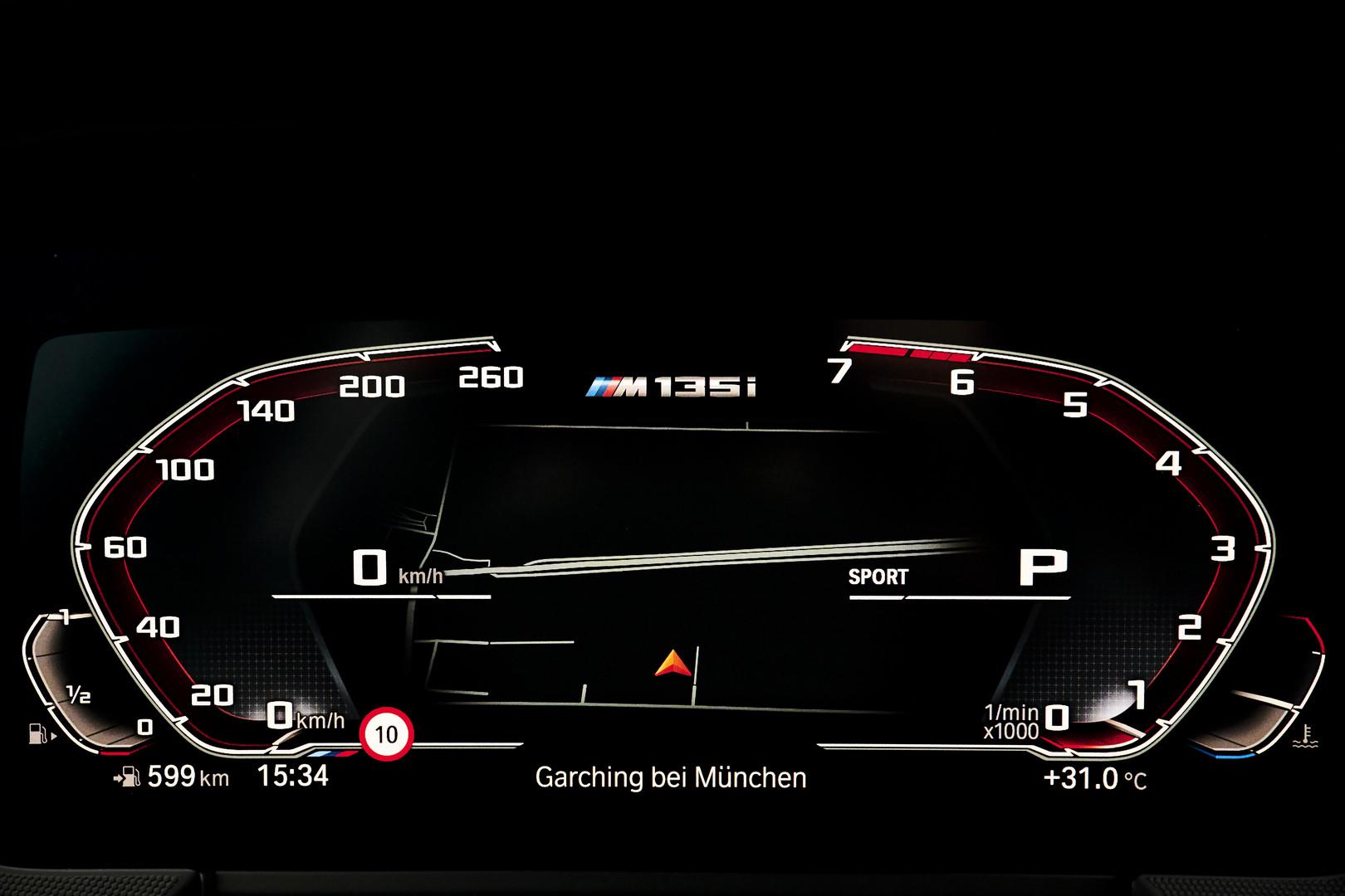 2020 BMW M135i Rev Counter