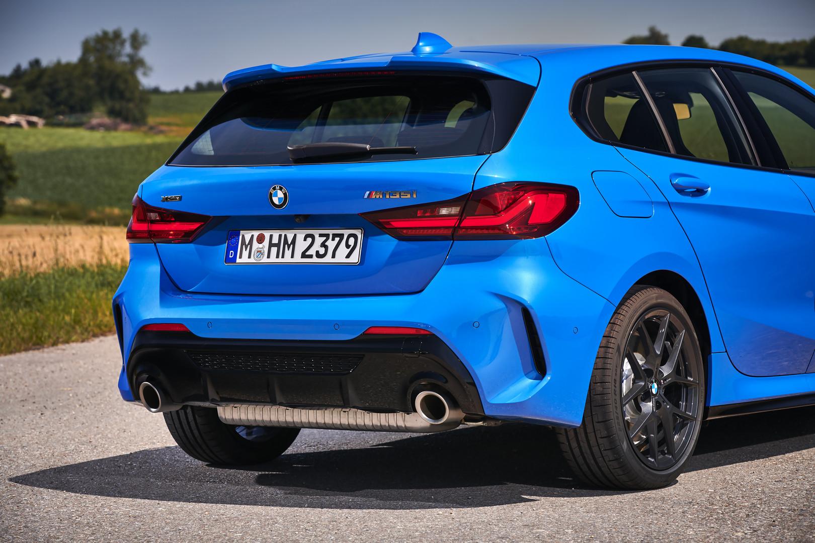 BMW M135i dual exhaust