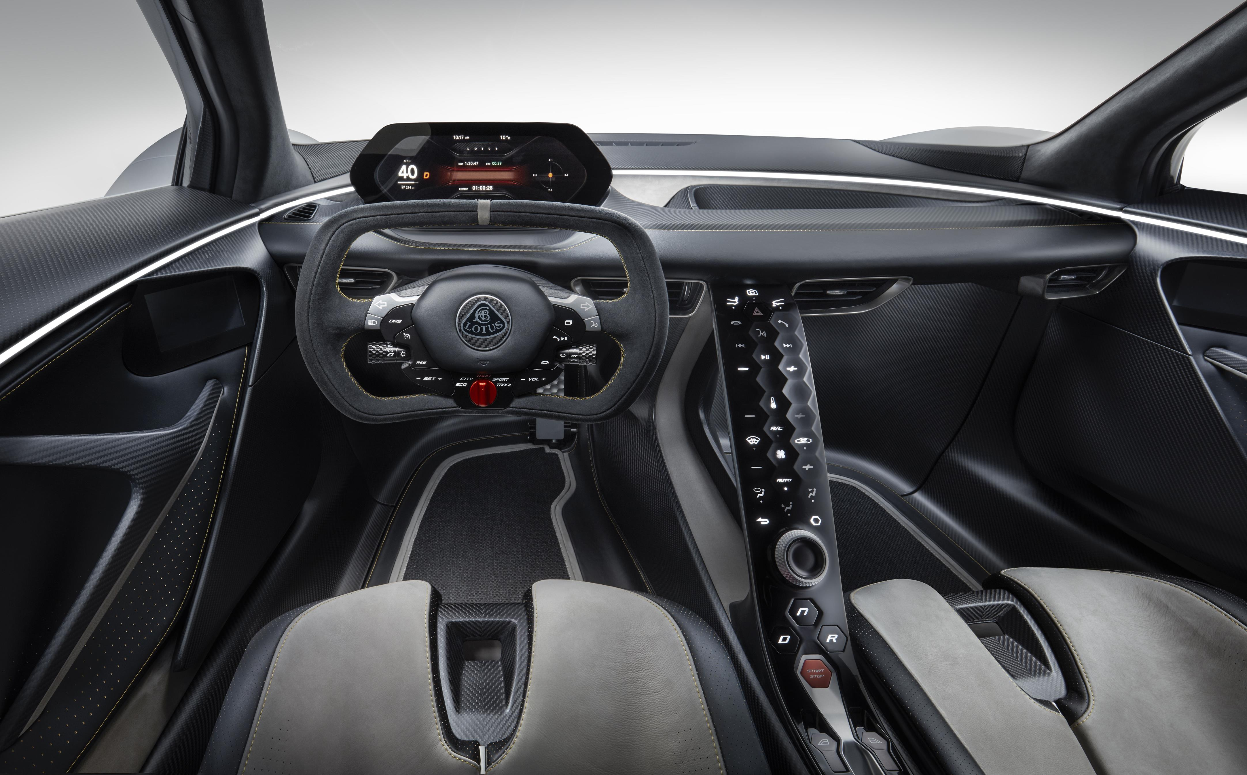 Lotus Evija Cockpit