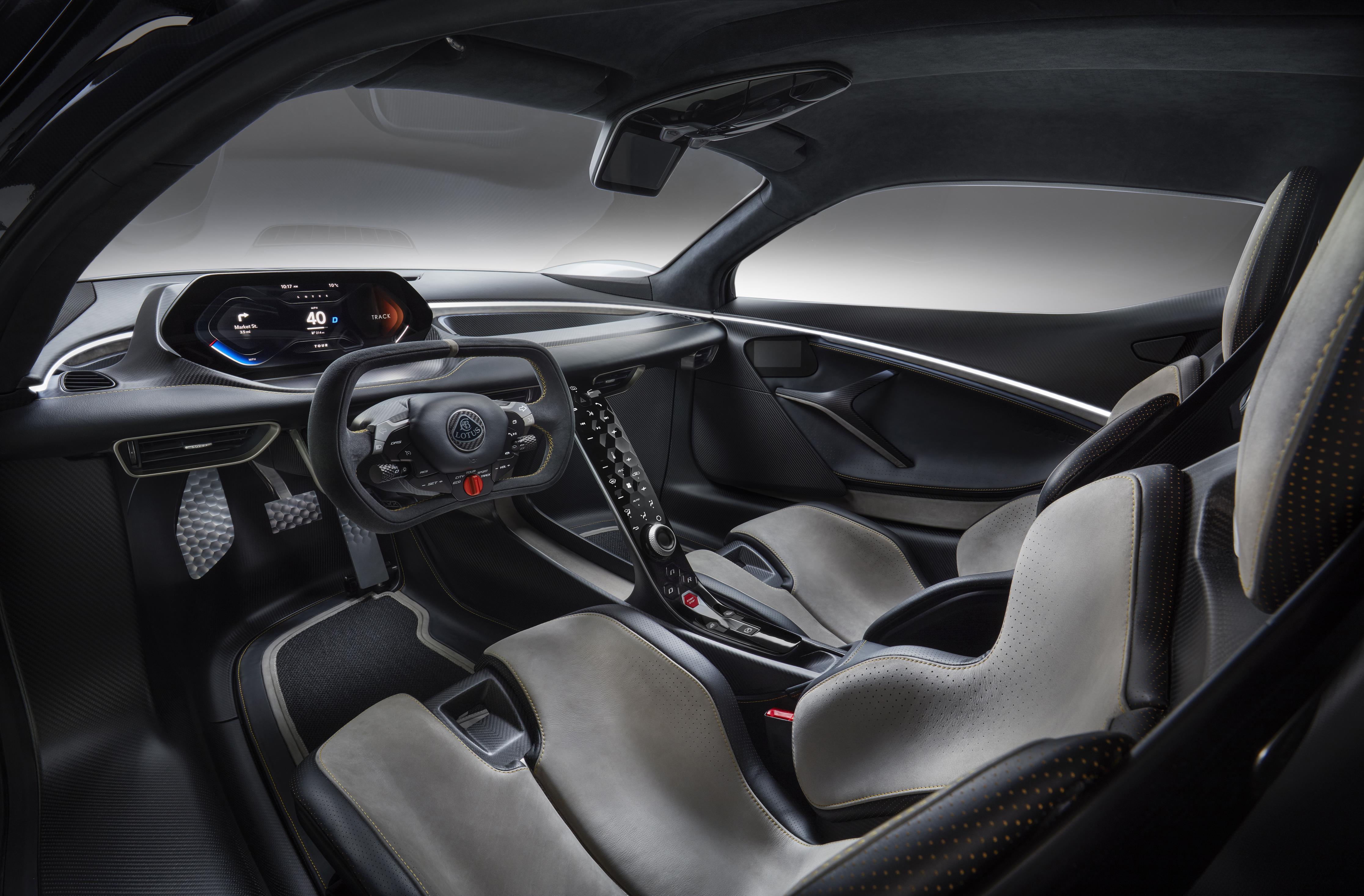 Lotus Evija Interior Cabin