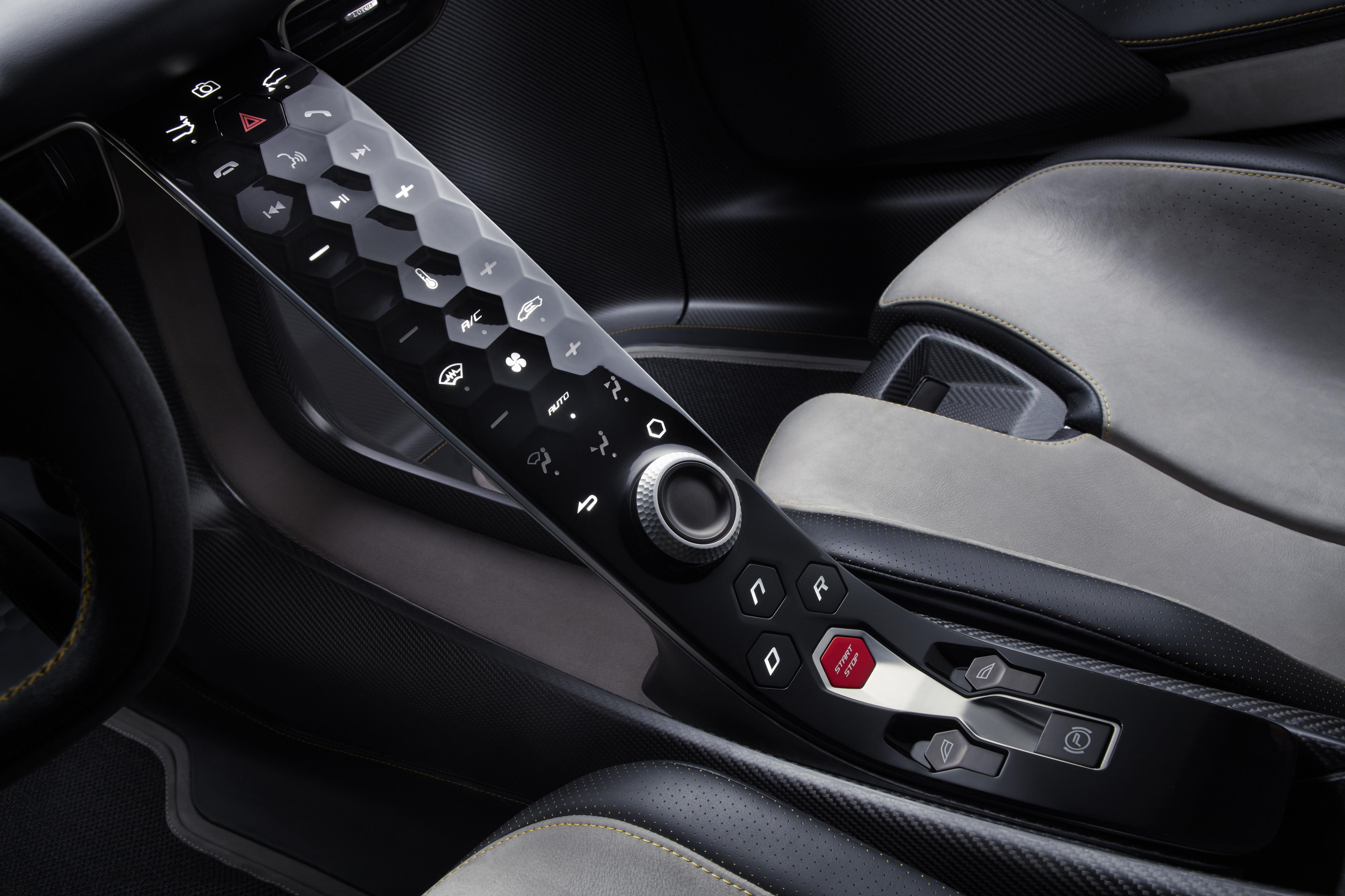 Lotus Evija Center Console