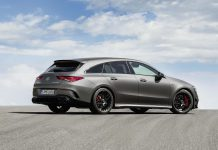 Mercedes-AMG CLA 45 S Shooting Brake Side View