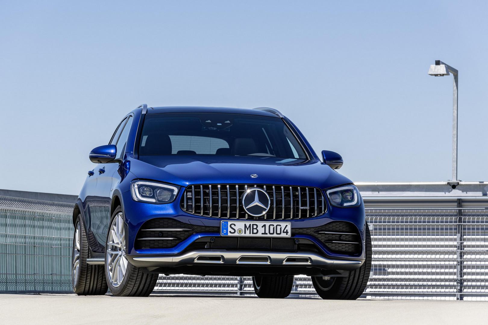 Blue Mercedes-AMG GLC 43 SUV