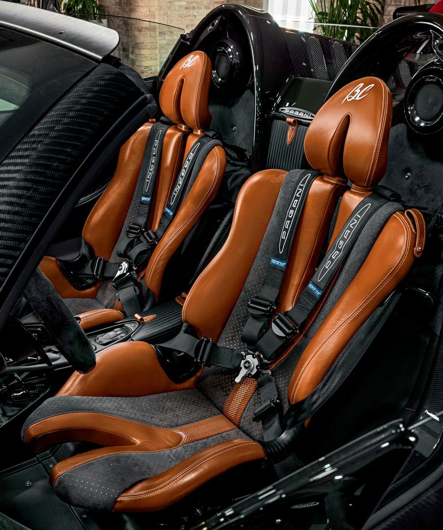 Pagani Huayra BC Roadster Seats