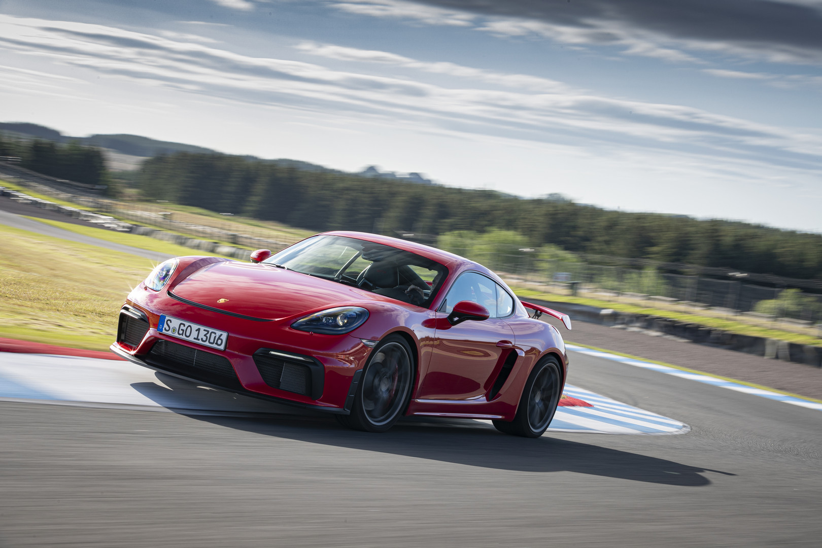 Red Porsche 718 Cayman GT4 Review