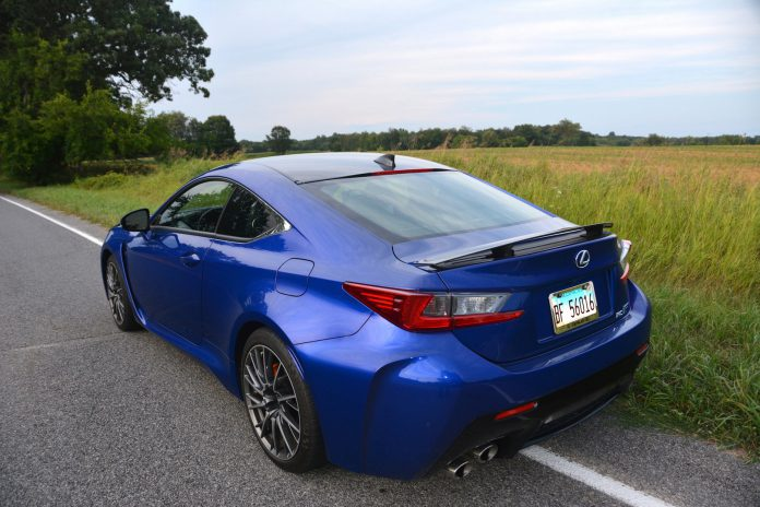 2019 Lexus RC F Rear Side