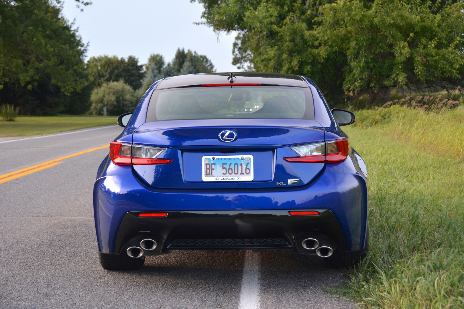 2019 Lexus RC F Rear View