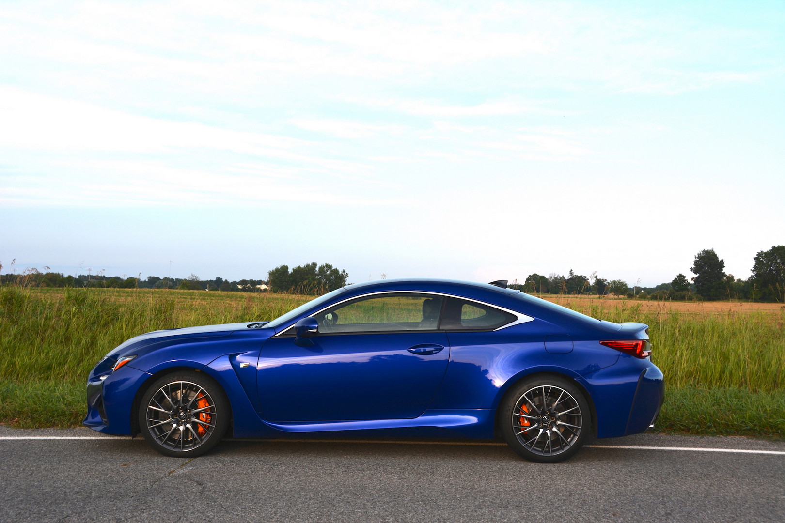 2019 Lexus RC F Side View