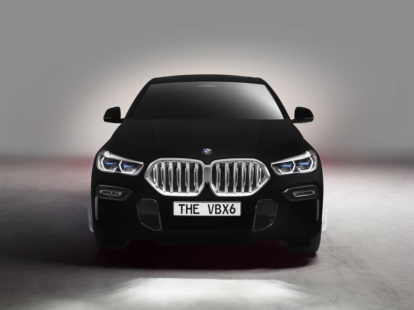 BMW X6 Vantablack Front