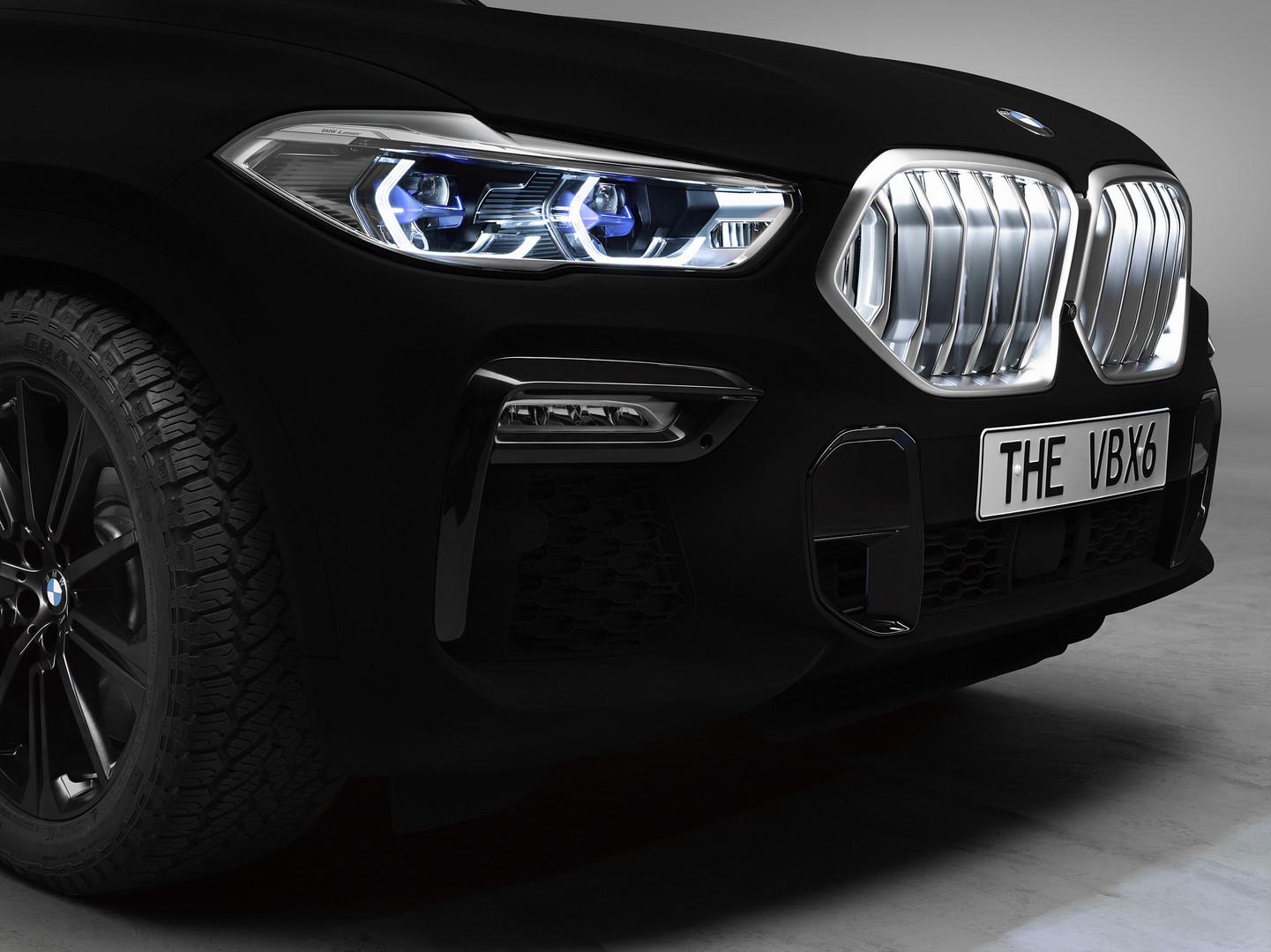 BMW X6 Vantablack Headlights