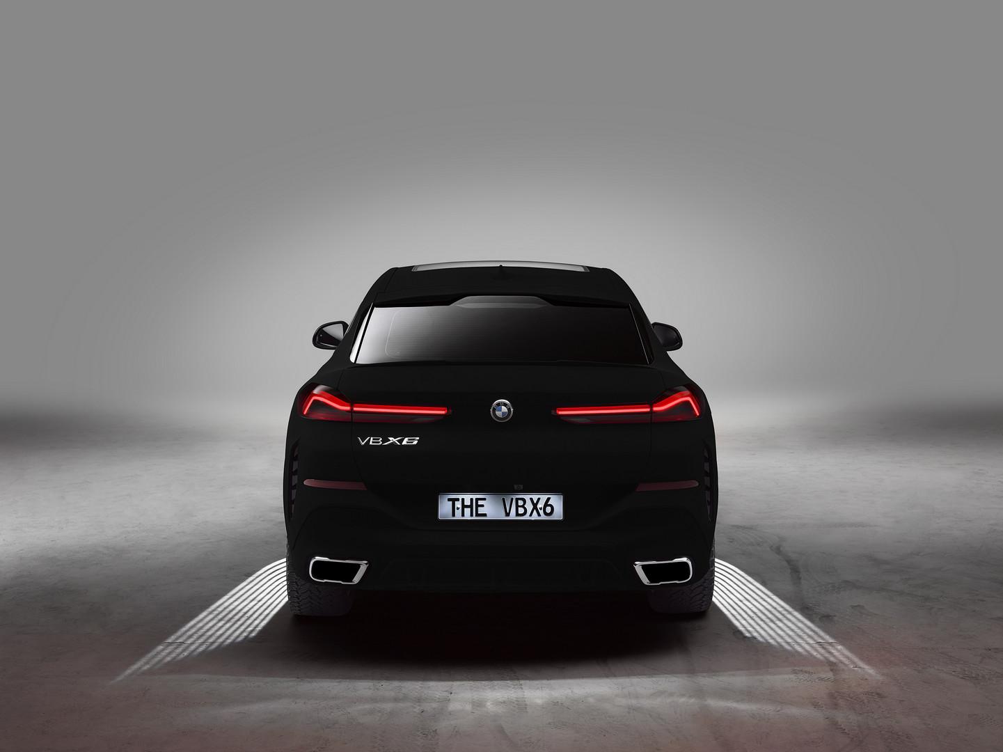 BMW X6 Vantablack Rear