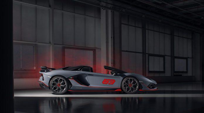 Grigio Lamborghini Aventador SVJ 63 Roadster