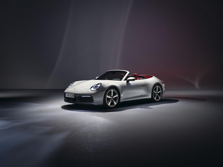 White Porsche 992 Carrera Cabrio