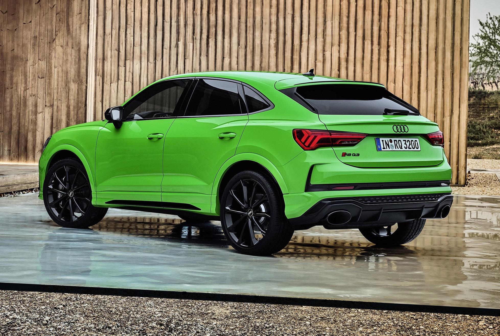Green Audi RS Q3 Sportback
