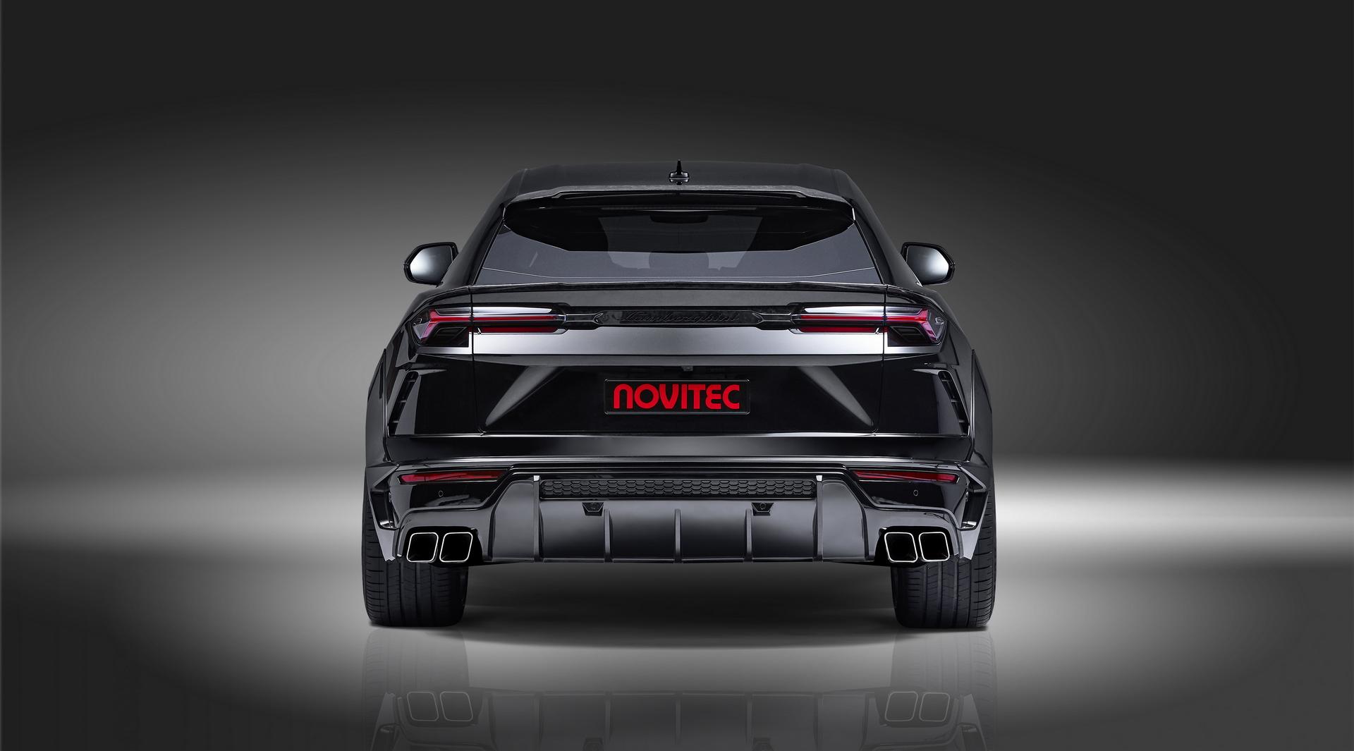 Black Lamborghini Urus Rear