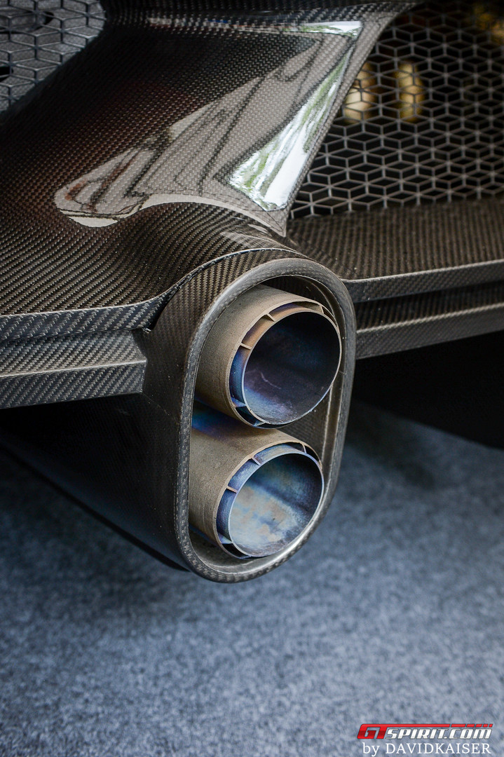 Bugatti Chiron Super Sports 300+ Exhaust Pipes