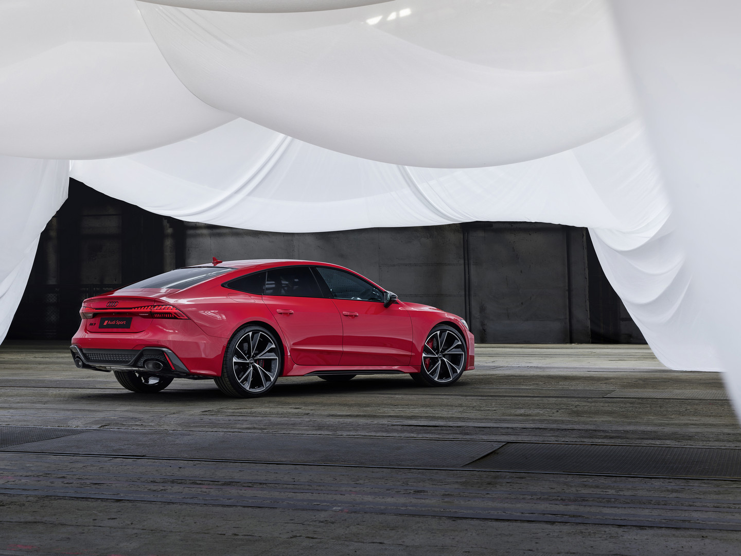 Red Audi RS7 Sportback