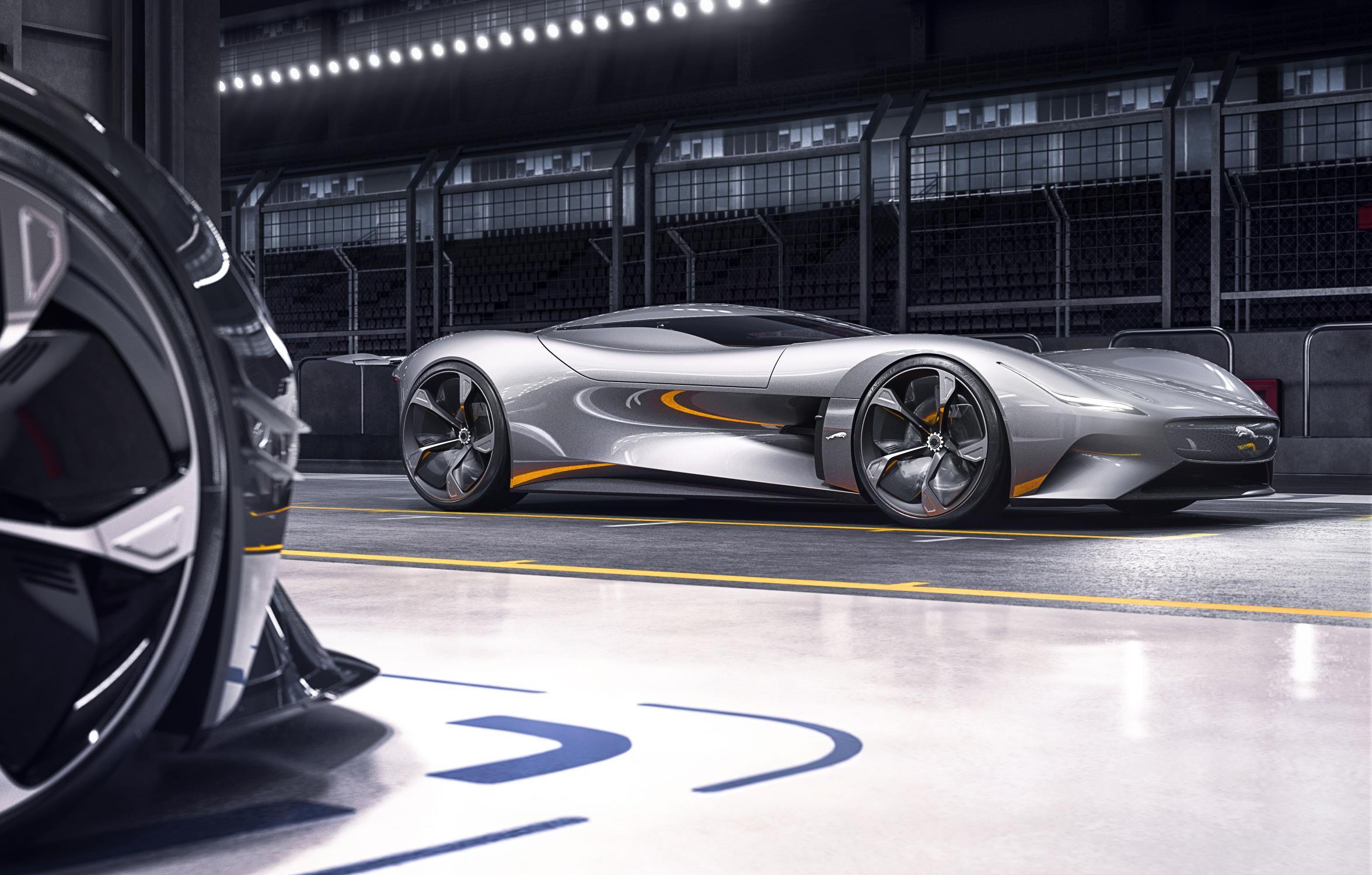 Silver Jaguar Vision Gran Turismo