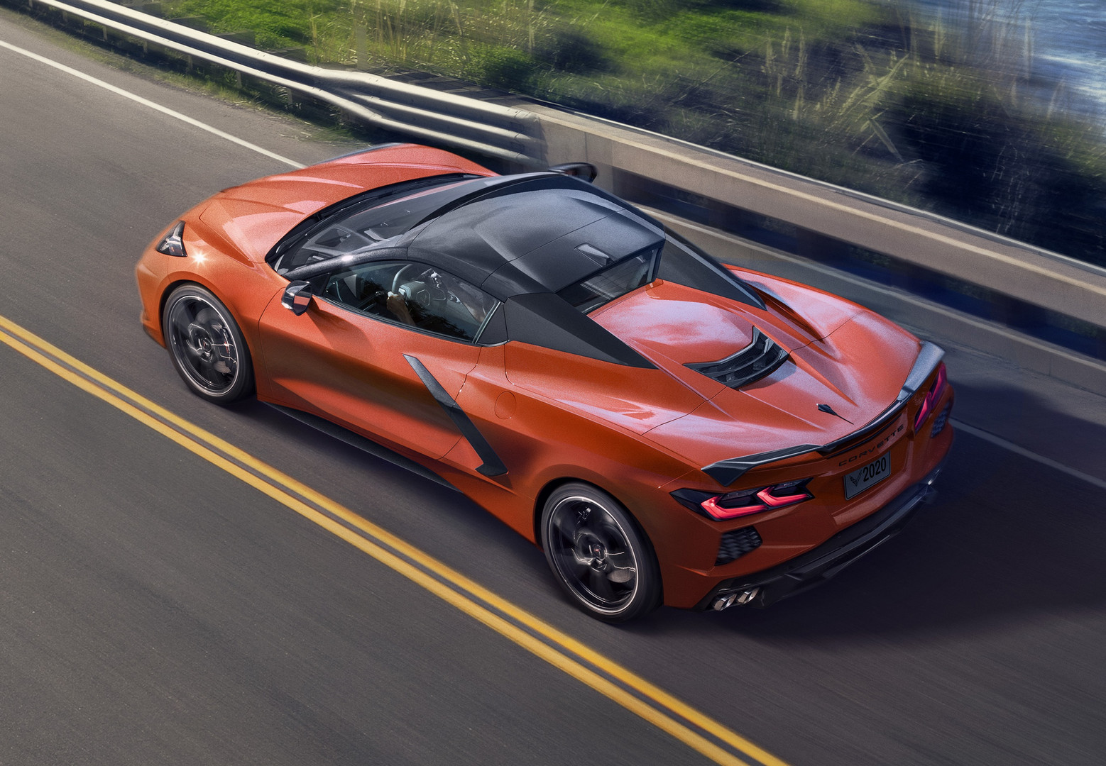 2020 Corvette Convertible Orange