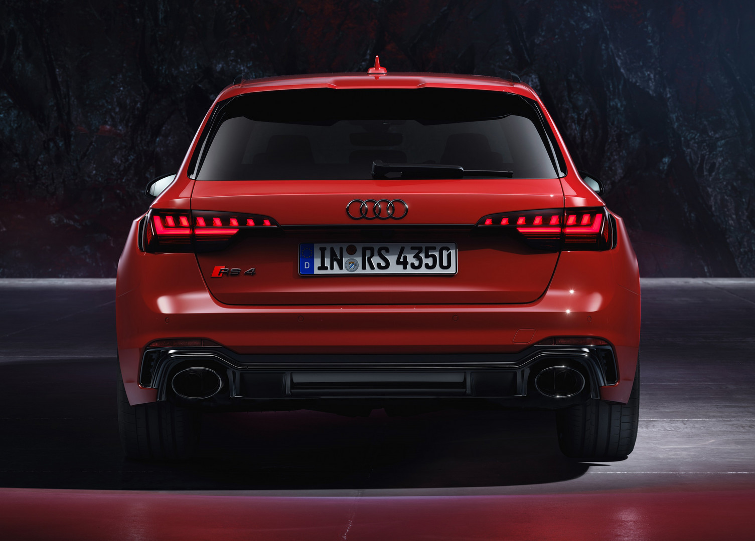 Audi RS4 Avant Rear View