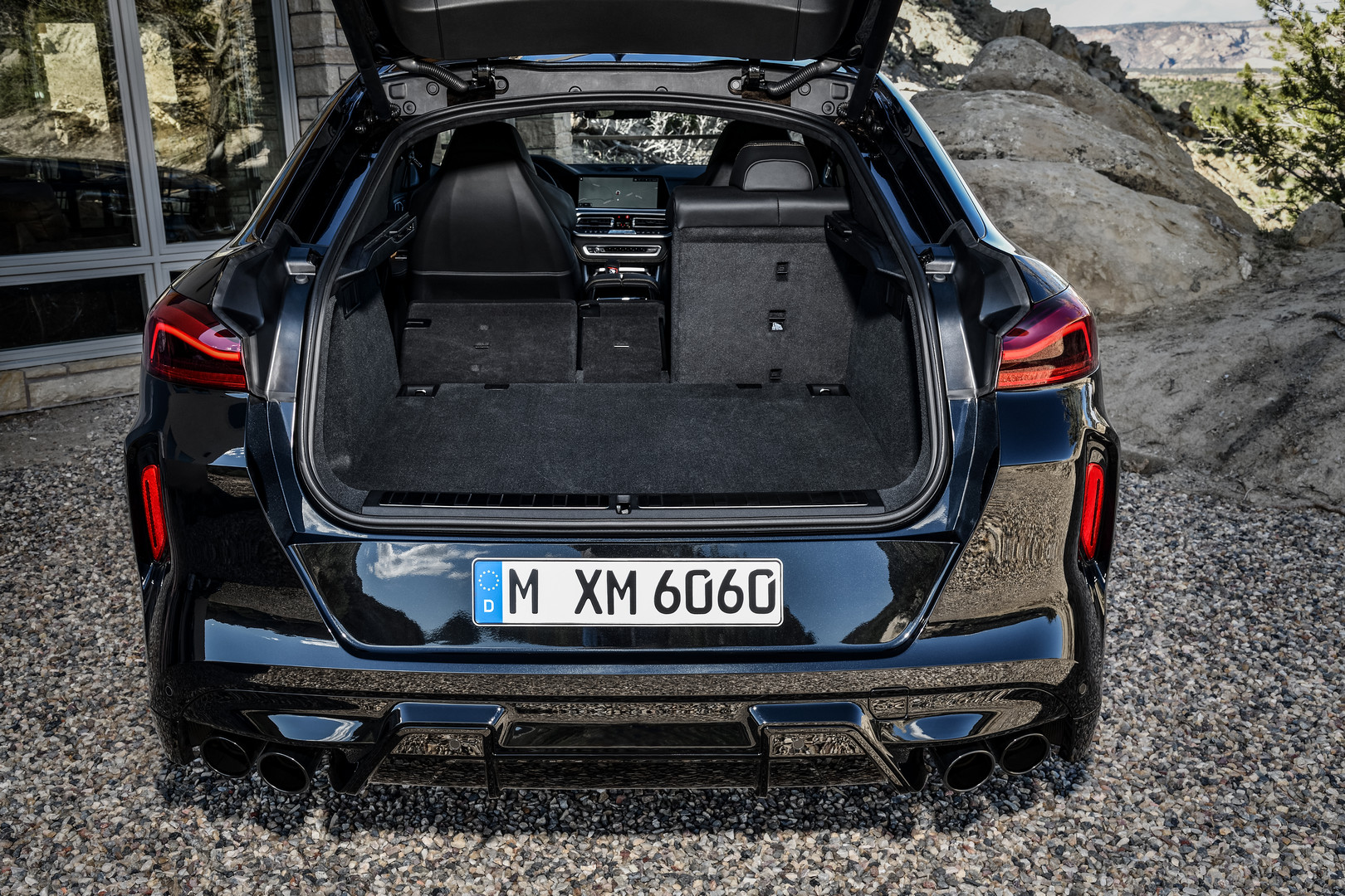 BMW X6 M Competition Trunk