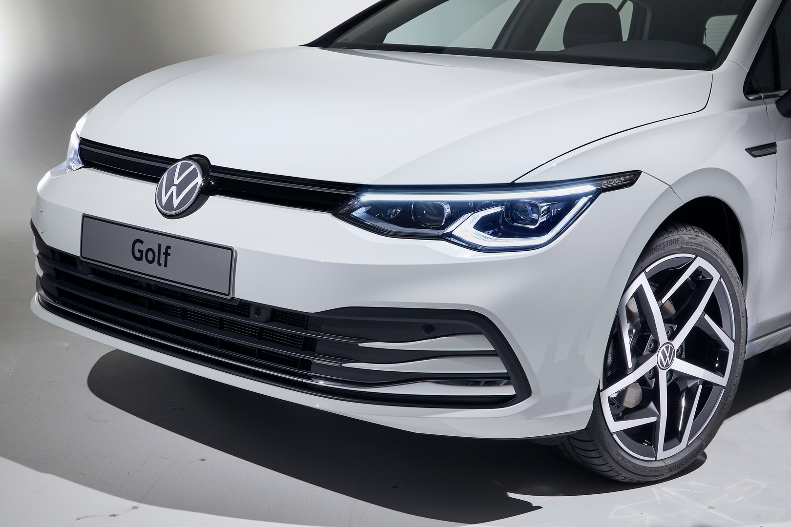 White VW Golf 8 Front Bumper