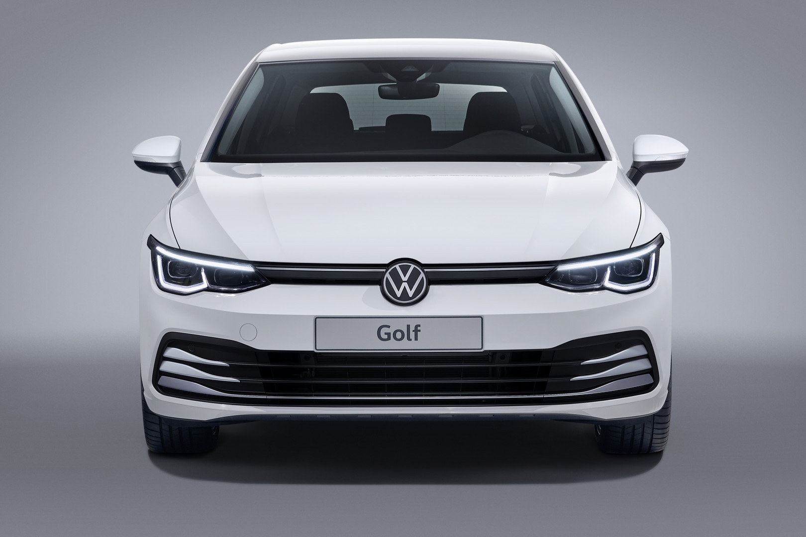 White VW Golf 8 Front