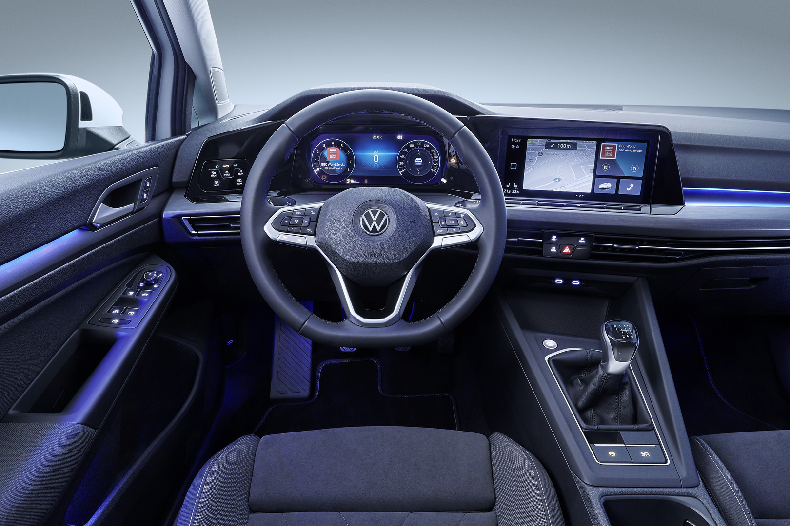 White VW Golf 8 Interior
