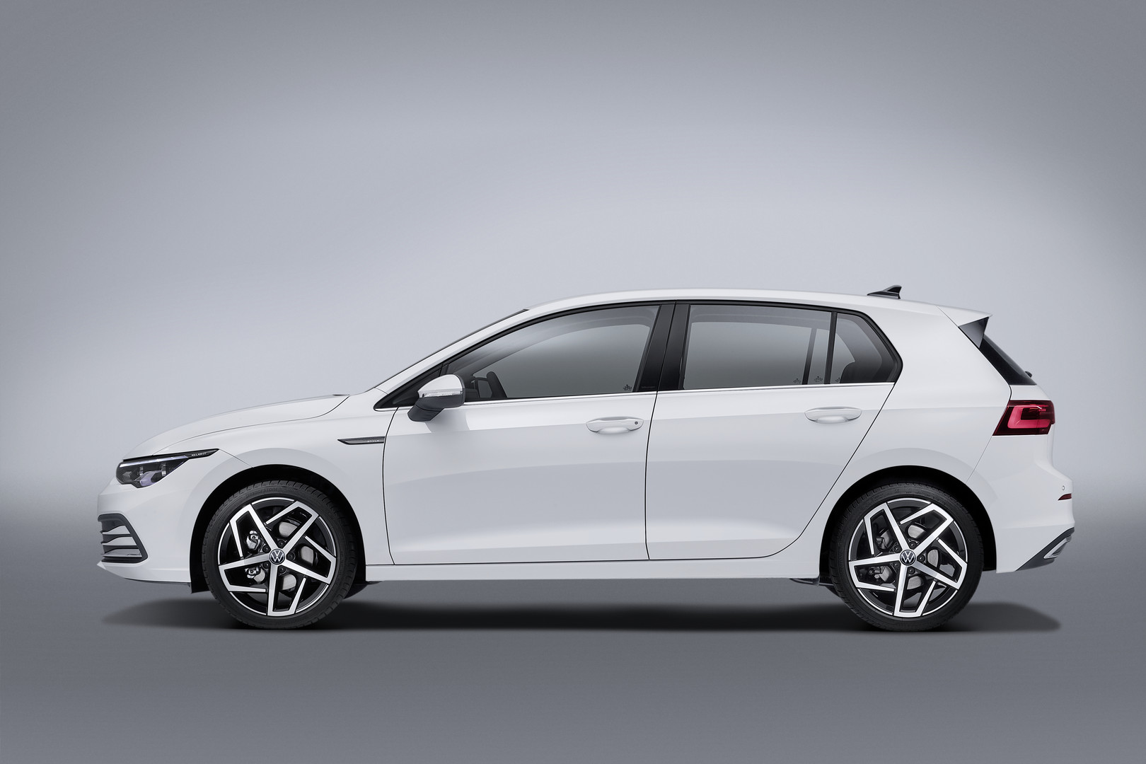 White VW Golf 8 Side
