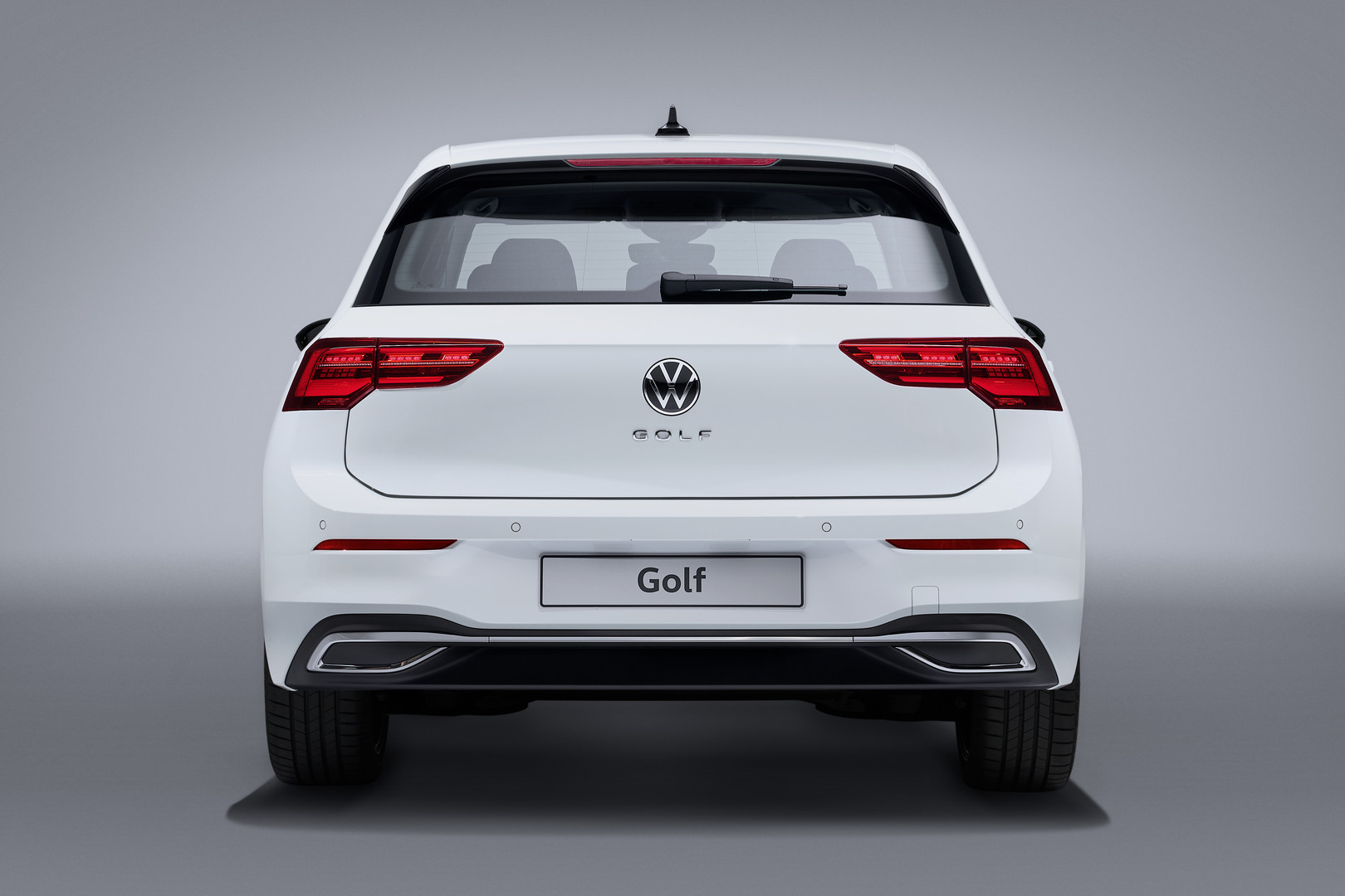 White VW Golf 8 Taillights