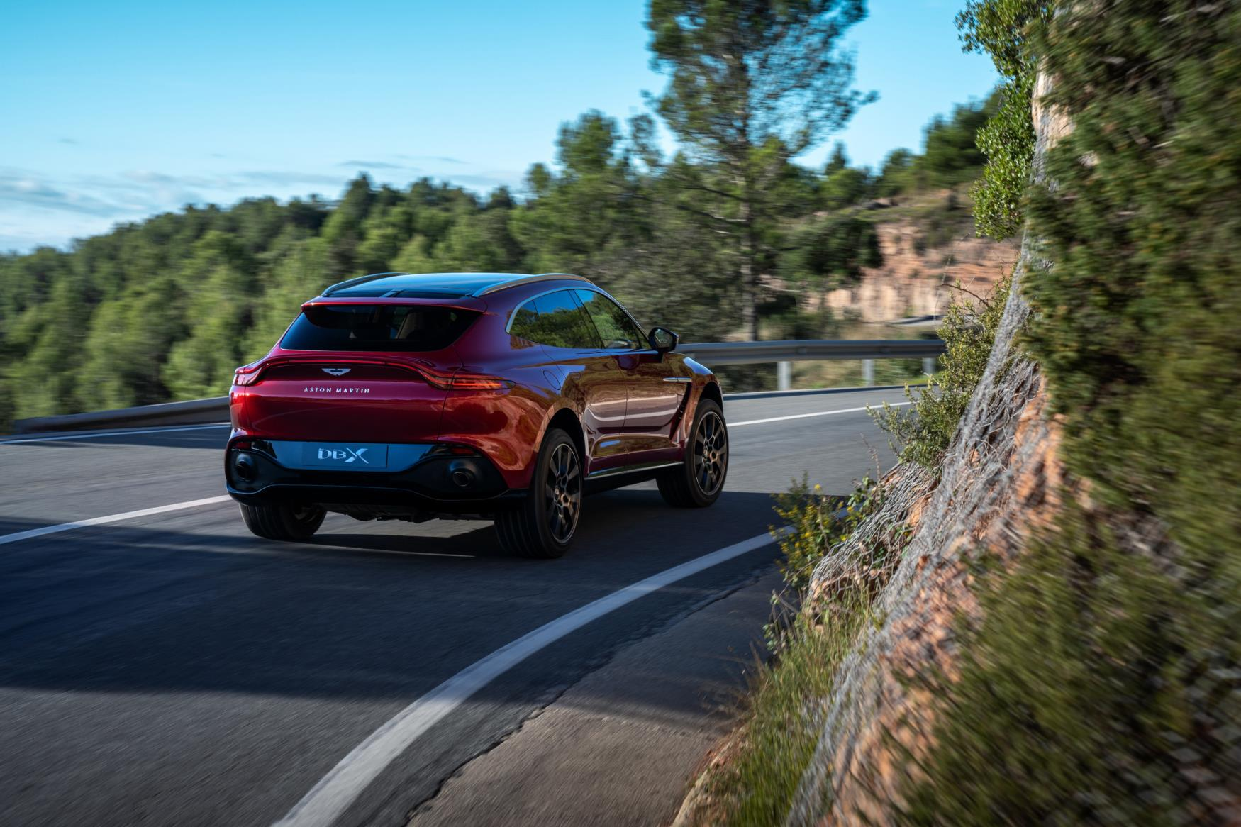Aston Martin DBX Rear Moving