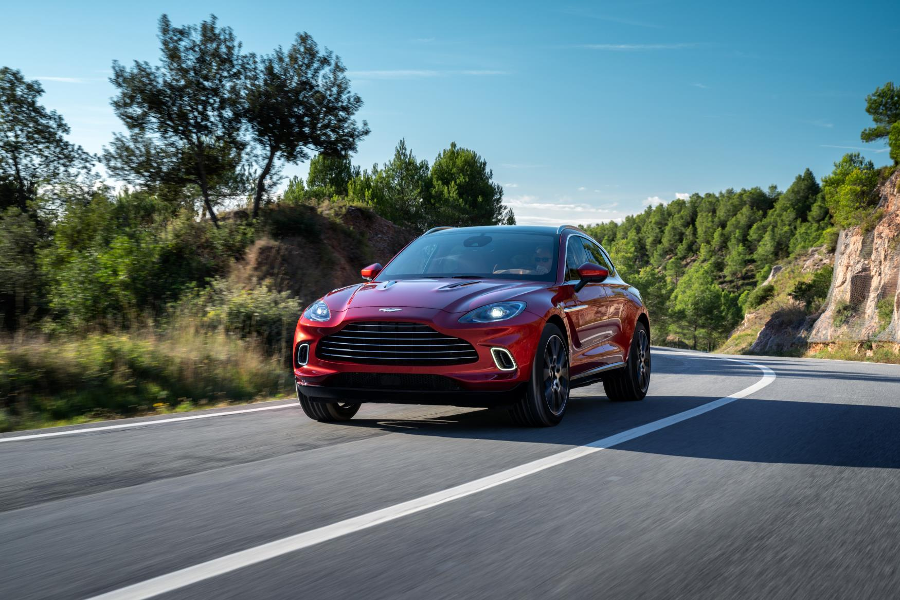 Aston Martin DBX Front Moving