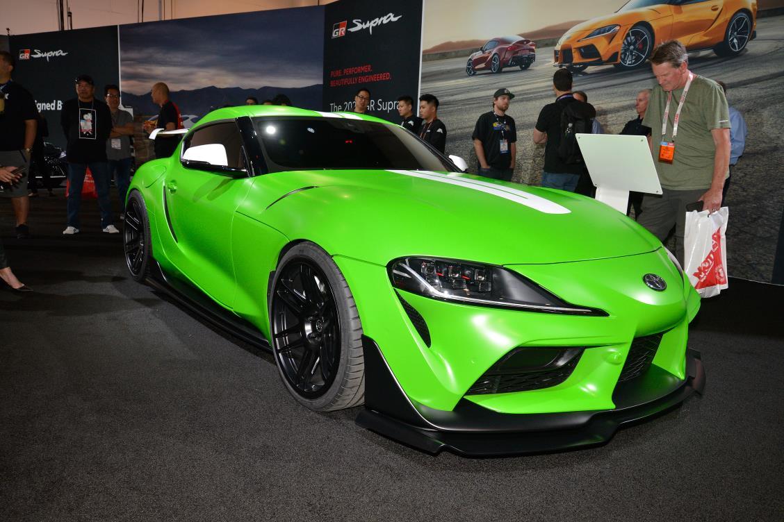 Green Toyota Supra