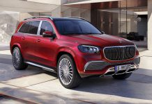 Red Mercedes-Maybach GLS 600